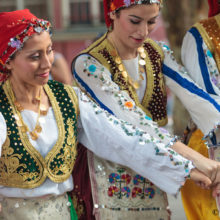 Turkish dance refers to the folk dances of Turkey. The dominant dance forms are types of line dance.